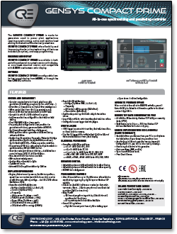 gensys compact prime sales bulletin