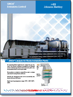 SINOx catalysts for waste incineration plant literature