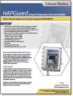 hapguard exhaust monitor literature
