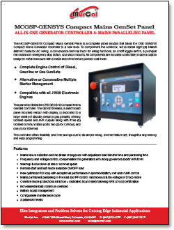 MCGSP-Gensys Compact Mains GenSet Panel Sales Bulletin
