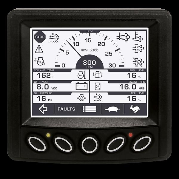 the powerview 300 series displays handle basic engine alarm shutdown