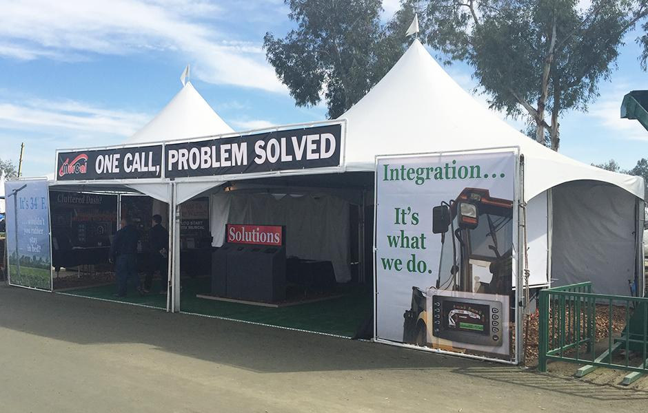 MurCal's booth at the World Ag Expo in Tulare, CA