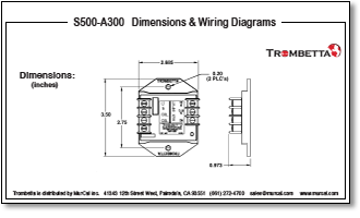 trombetta s s500 a300 electronic control module accepts your 2 dimensions wiring diagrams