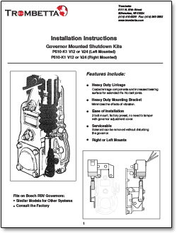 trombetta fuel shutdown kit literature
