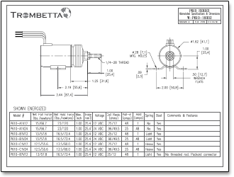 Trombetta P-Series Solenoids, Offered in Both 12V and 24V, are ...
