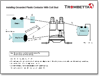 trombetta u0026 39 s plastic dc contactors  produced with strong